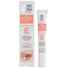 Librederm Vitamin E Cream-Antioxidant for Sensitive Eye Contour Skin 20ML